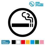 喫煙OKマークのカッティング ステッカー シール