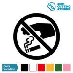 タバコのポイ捨て禁止マークのカッティングステッカー