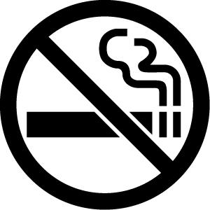 禁煙マークのカッティングシートステッカー