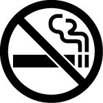 禁煙マークのカッティングステッカー