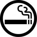 喫煙OKマークのカッティングステッカー