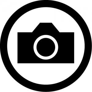 撮影を許可するマークのカッティングステッカー