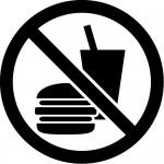 飲食禁止マークのカッティングステッカー