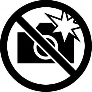 フラッシュ撮影禁止マークのカッティングステッカーシール