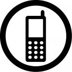 携帯電話の使用許可マークのカッティングステッカーシール