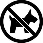 ペット・動物の入店を禁止するマークのカッティングステッカーシール