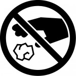 ゴミのポイ捨て禁止マークのカッティングステッカー