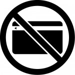 クレジットカードの使用不可マークのカッティングステッカーシール