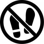 土足禁止マークのカッティングステッカーシール