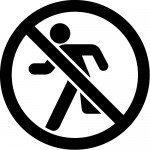 走るな/立ち入り禁止マークのカッティングステッカーシール