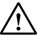ビックリマーク・注意標識のカッティングステッカーシール
