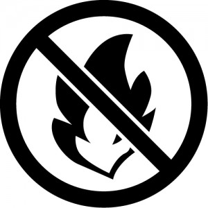 不燃物・火のマークのカッティングステッカーシール