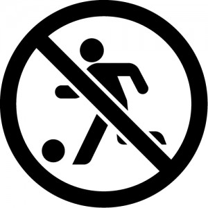 球技・ボール遊びの禁止マークのカッティングステッカーシール