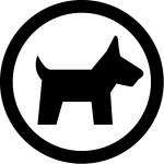ペット・動物許可マークのカッティングステッカーシール