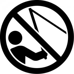 釣り禁止マークのカッティングステッカーシール