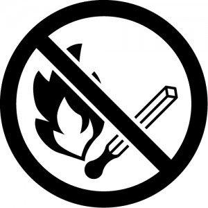 火気厳禁・火の使用を禁止するマークのカッティングステッカーシール