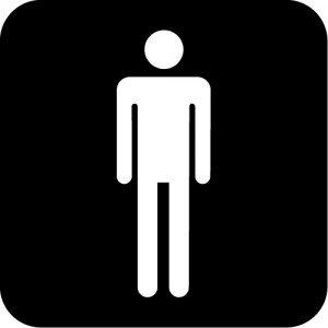 男性トイレ標識マークのカッティングステッカーシール