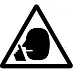 騒音注意標識のカッティングステッカーシール