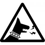猛犬注意標識のカッティングステッカーシール
