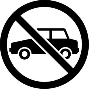 駐車禁止のカッティングステッカーシール