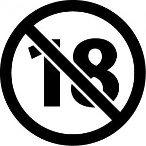 18歳未満禁止のカッティングステッカーシール