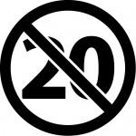 20歳未満禁止のカッティングステッカーシール