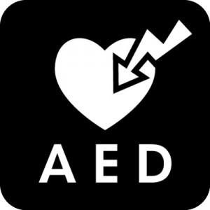 AED設置マークのカッティングステッカーシール
