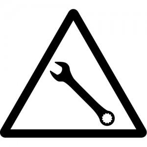 故障等を表す注意マークのカッティングステッカーシール