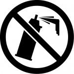 落書き禁止マークのカッティングステッカーシール