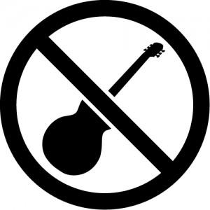 イベント・ライブ禁止マークのカッティングステッカーシール