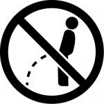 立小便禁止マークのカッティングステッカーシール