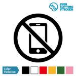 スマートフォン・携帯電話の使用禁止マークのカッティングシート ステッカー シール