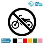 バイク禁止マークのカッティングシート ステッカー シール