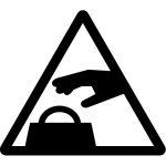 盗難・置引き注意マークのカッティングシートステッカー