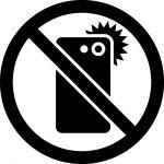 スマホ撮影禁止マークのカッティングシートステッカー