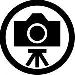 三脚撮影OKマークのカッティングシートステッカー