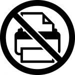 印刷禁止マークのカッティングシートステッカー
