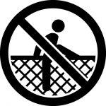 よじ登り禁止マークのカッティングシートステッカー