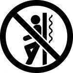 よりかかり禁止マークのカッティングシートステッカー