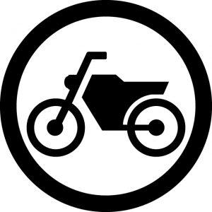 バイクOKマークのカッティングシートステッカー