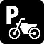 バイク駐輪場案内マークのカッティングシートステッカー