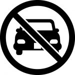 車両進入禁止マークのカッティングシートステッカー