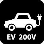 EV200V充電案内マークのカッティングシートステッカー