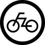 自転車OKマークのカッティングシートステッカー
