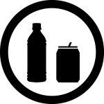 缶・ペットボトルOKマークのカッティングシートステッカー