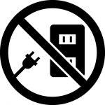 コンセント使用禁止マークのカッティングシートステッカー