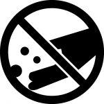 餌やり禁止マークのカッティングシートステッカー