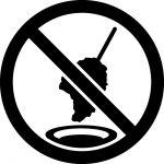 二度漬け禁止マークのカッティングステッカーシール