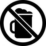 お酒・ビール禁止マークのカッティングシートステッカー