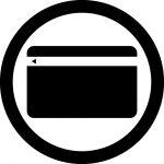 クレジットカード使用OKマークのカッティングシートステッカー